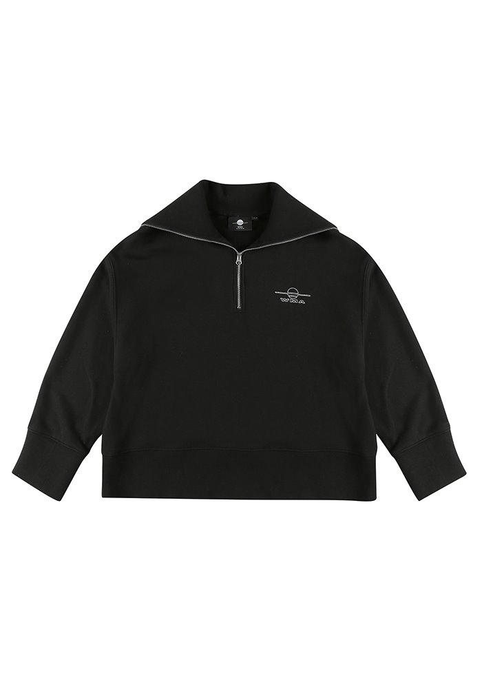 HALF ZIP-UP SWEATSHIRT_Black #2