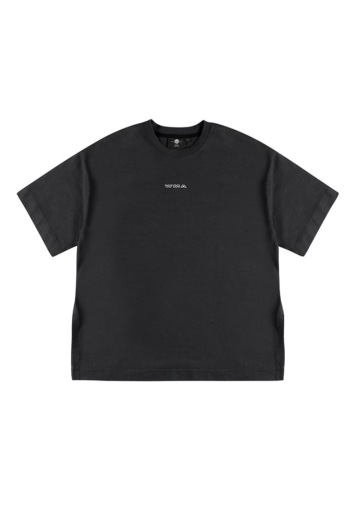 SIDE SLIT GARMENT DYEING T-SHIRT_Black_#2
