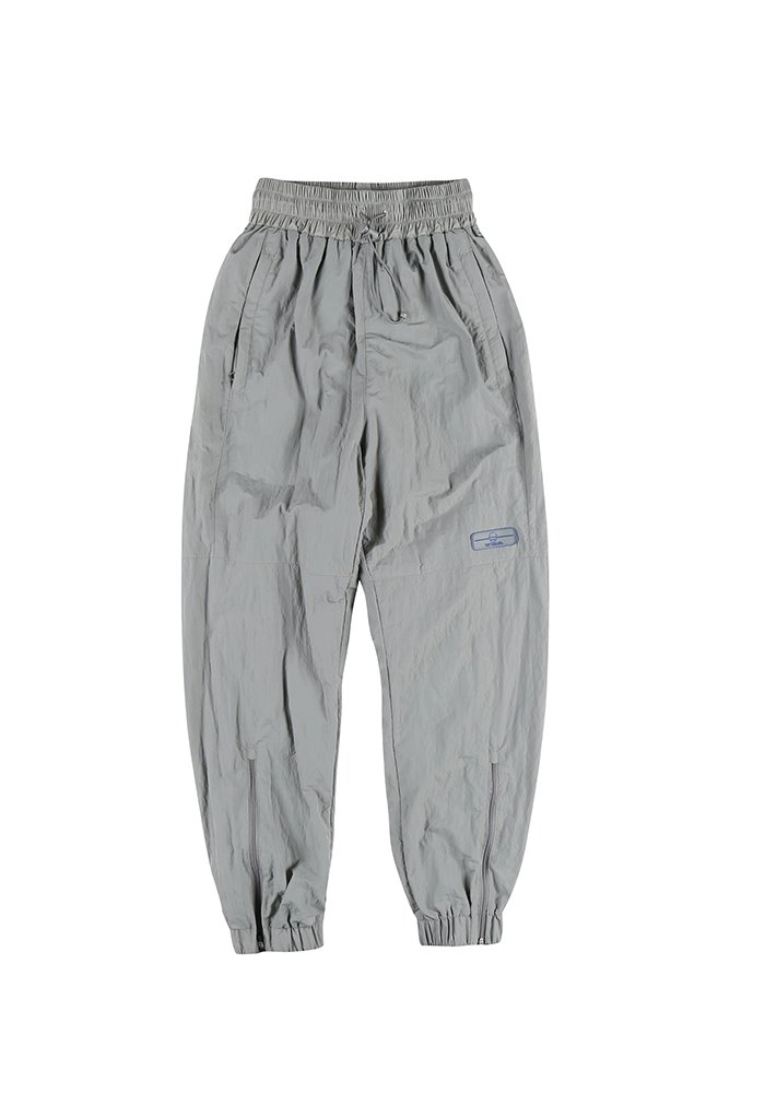 ZIPPER TRACK PANTS_Grey(Blue Rubber Wappen)