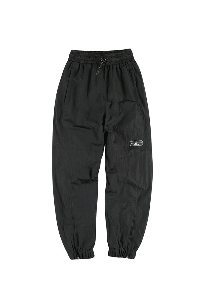ZIPPER TRACK PANTS_Black