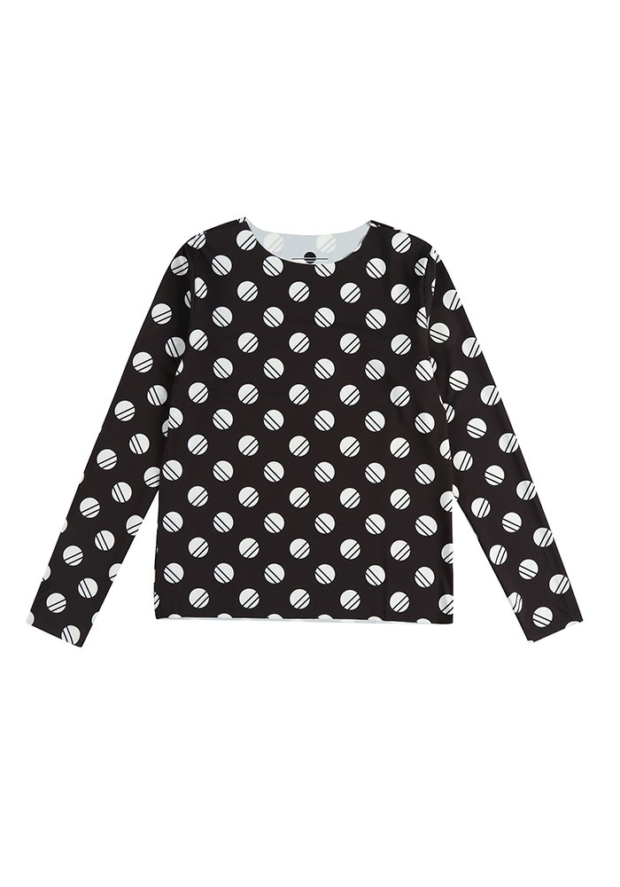 LOGO PATTERN LONG SLEEVE T-SHIRT_Black