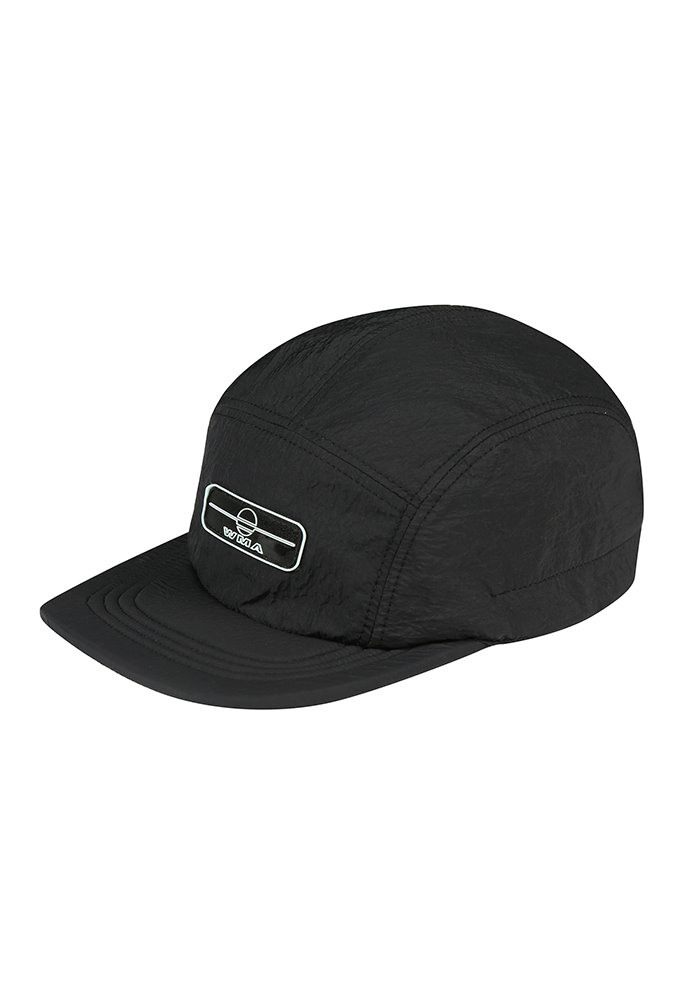 RUBBER WAPPEN CAMP CAP_Black