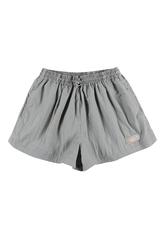 WIDE SHORTS_Grey(Pink Rubber Wappen)