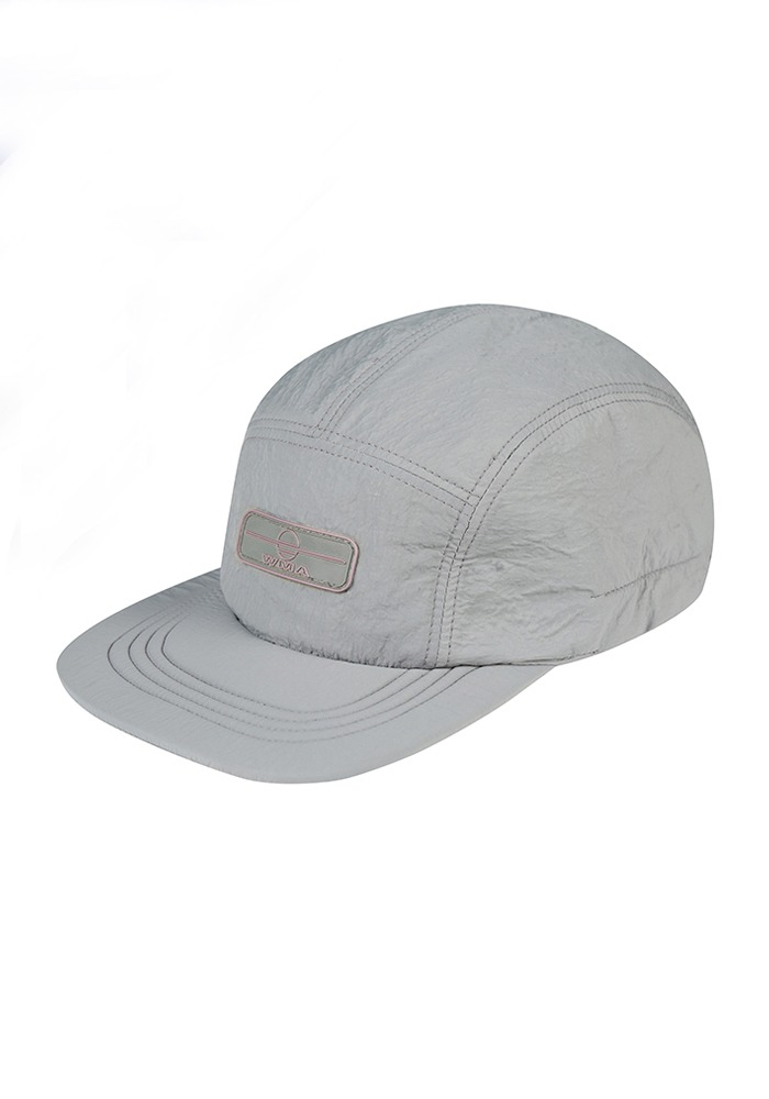RUBBER WAPPEN CAMP CAP_Grey (Pink Rubber Wappen)