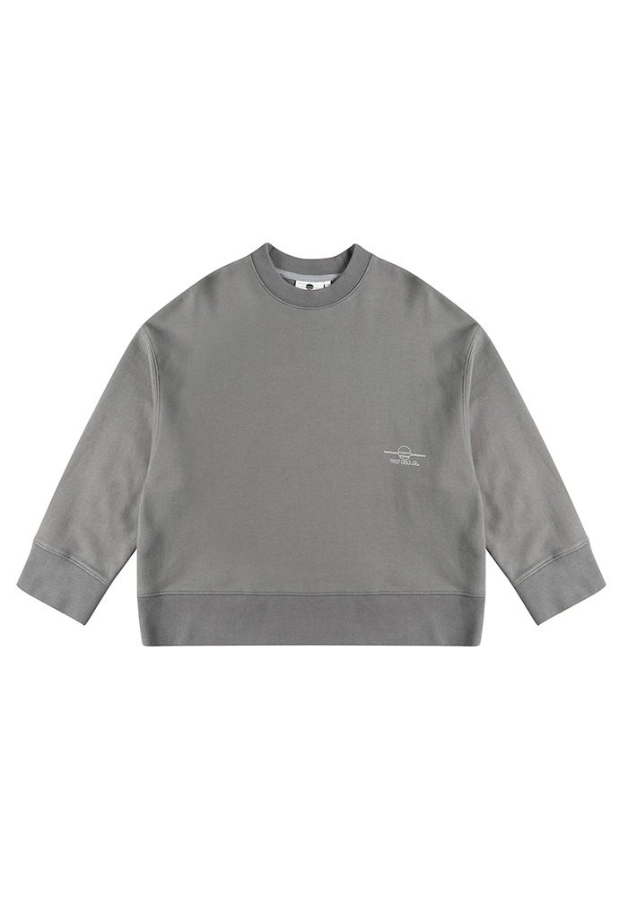 LOGO WIDE FIT SWEATSHIRT_Dark Grey