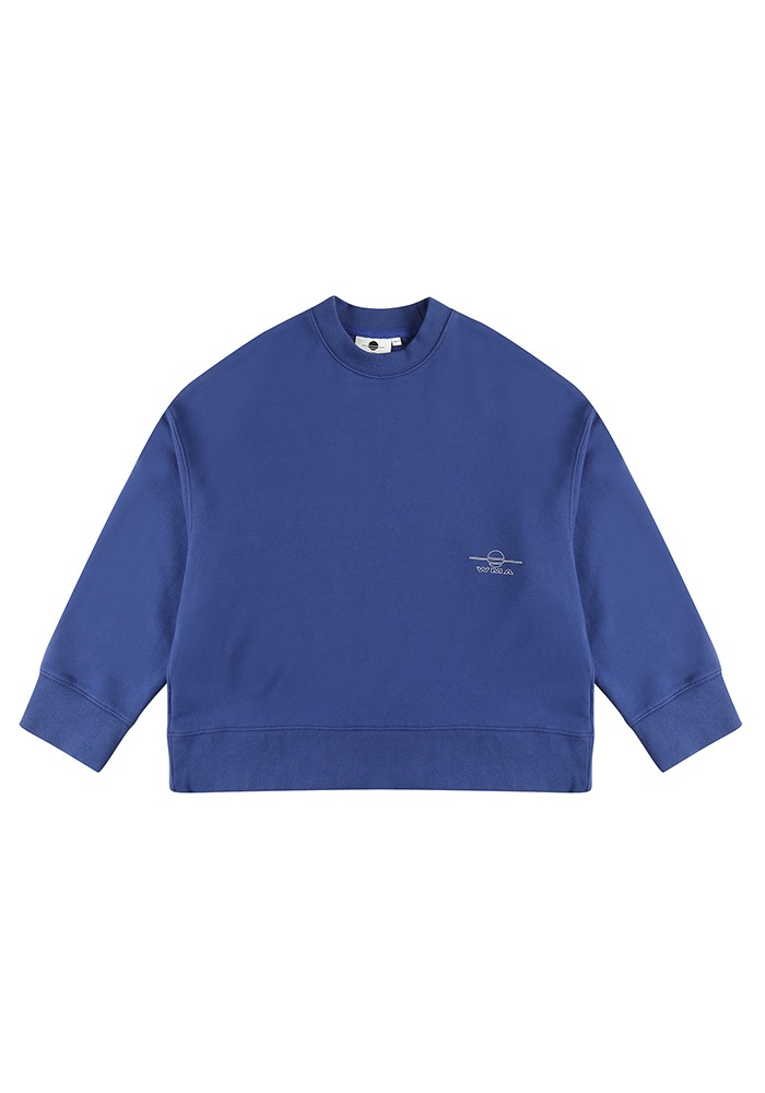LOGO WIDE FIT SWEATSHIRT_Blue