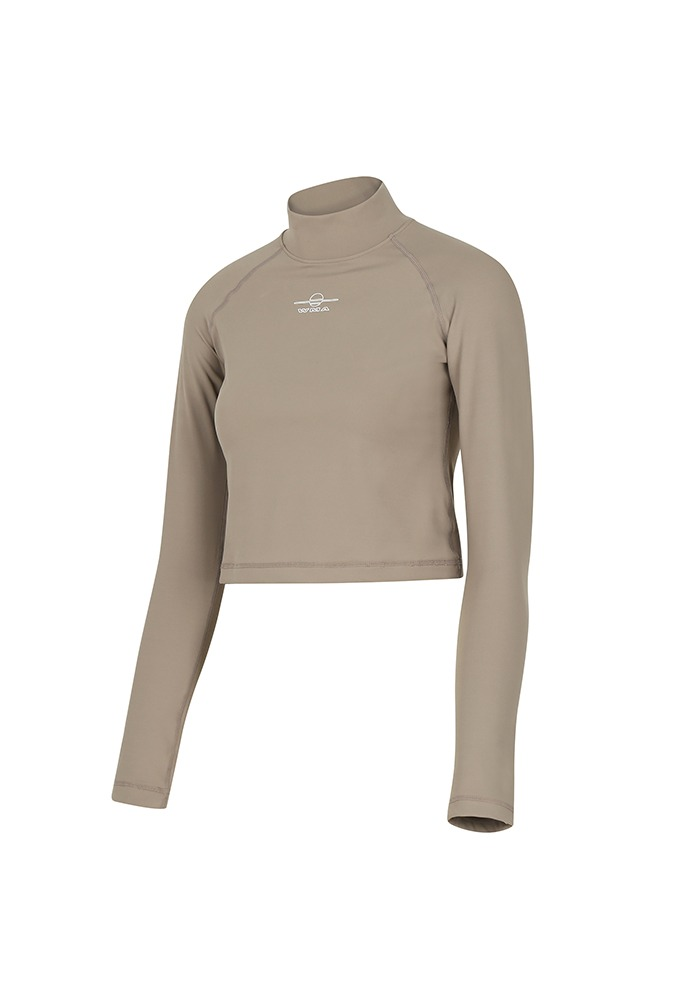 LONG-SLEEVE TURTLENECK_Light Brown