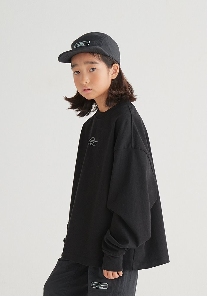 WMALLOW LOGO LONG SLEEVE T-SHIRT_Black