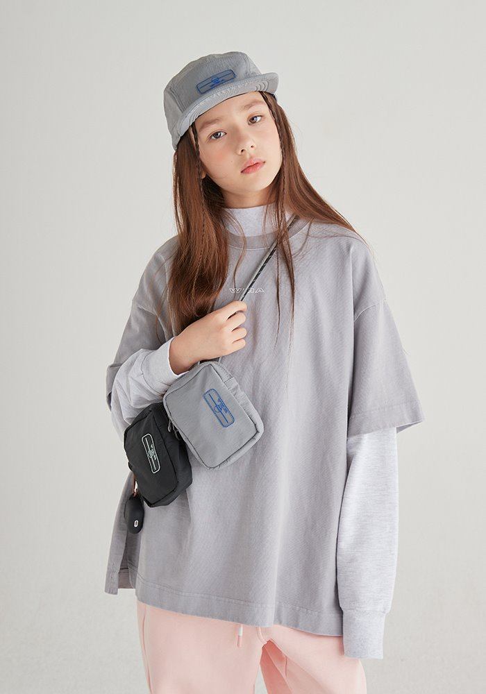 SIDE SLIT GARMENT DYEING T-SHIRT_Grey_#2