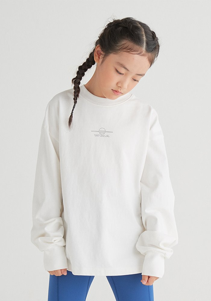 WMALLOW LOGO LONG SLEEVE T-SHIRT_White
