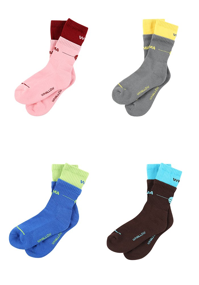 (NEW COLOR)LAYERED WMA SOCKS