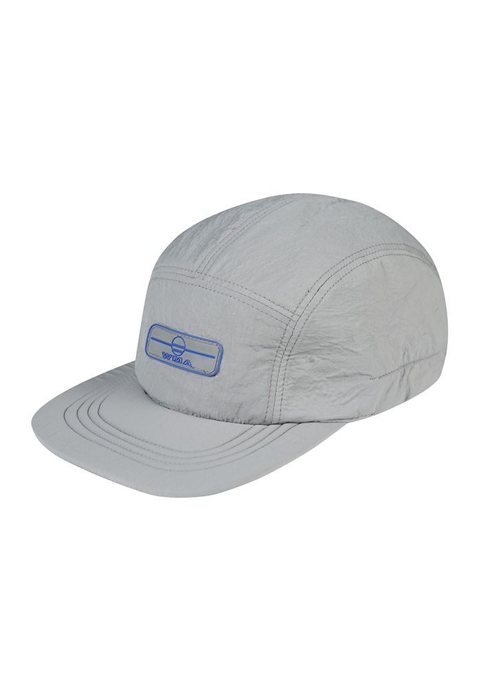RUBBER WAPPEN CAMP CAP_Grey (Blue Rubber Wappen)