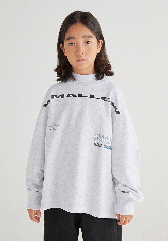 WMALLOW LOGO TURTLENECK_Silver Grey