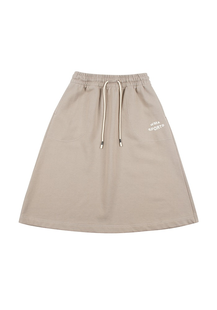 W.S POCKET SKIRT_Mocha