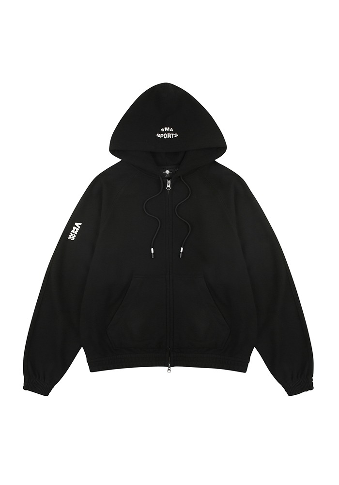 W.S ZIP-UP HOODIE_Black