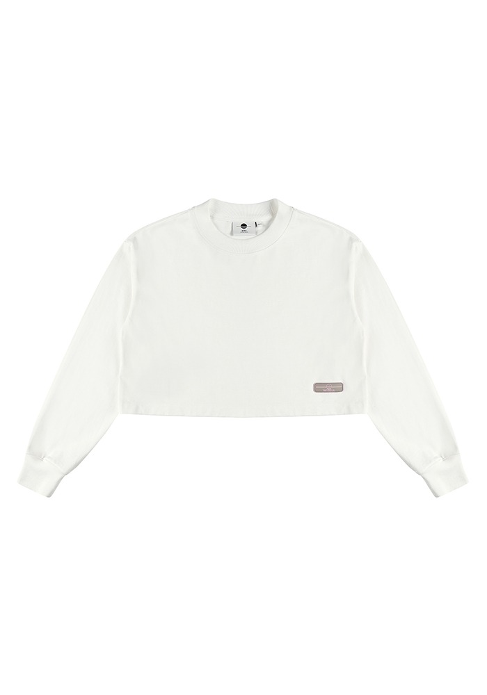 WMALLOW RUBBER WAPPEN CROP T-SHIRT_White